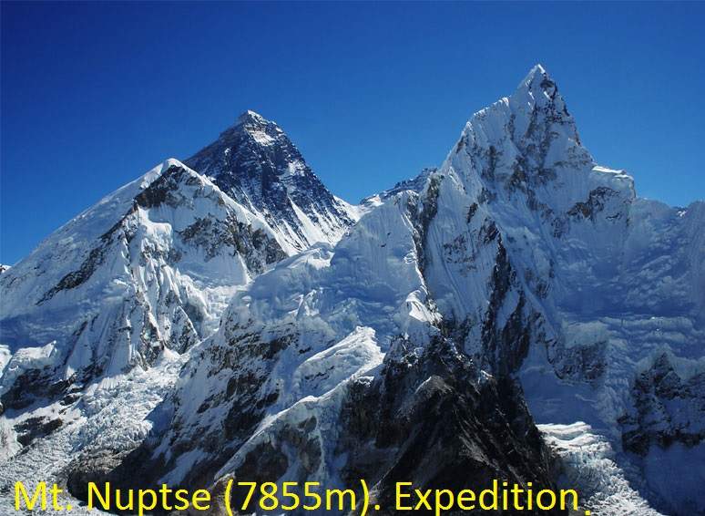 Mt. Nuptse (7855m). Expedition