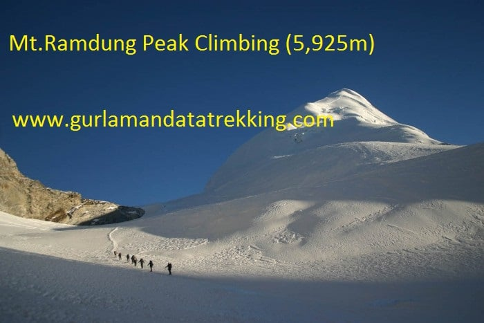 Mt.Ramdung Peak Climbing (5,925m) 19 Day.