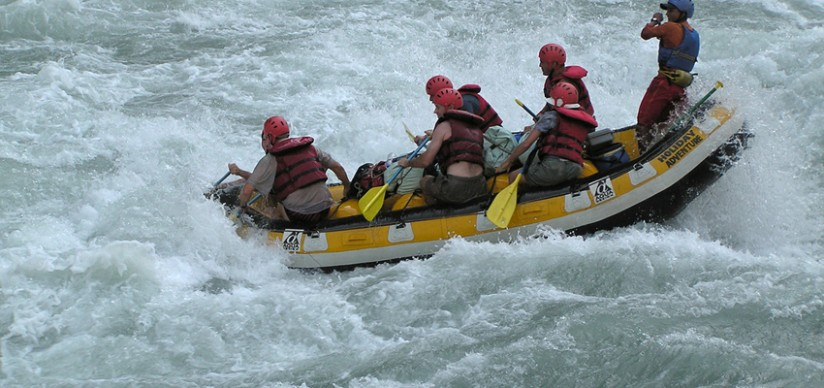 The Kali Gandaki river rafting.